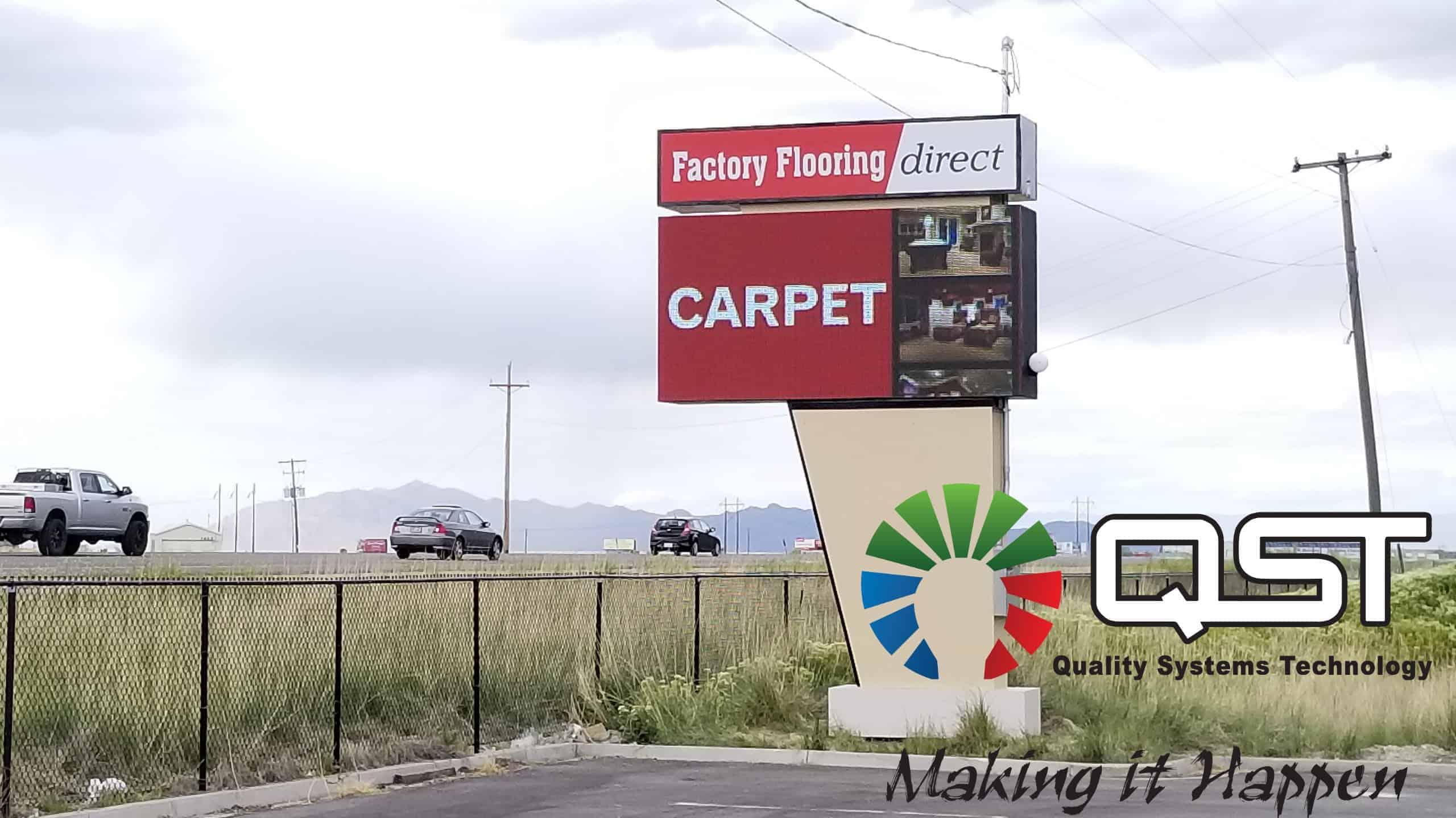 Factory Flooring 16mm HD LED screen install